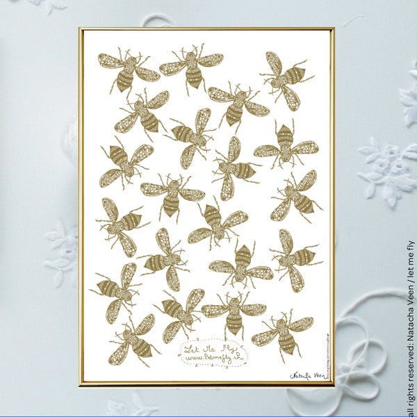 Image of Gold *Bees*_A4