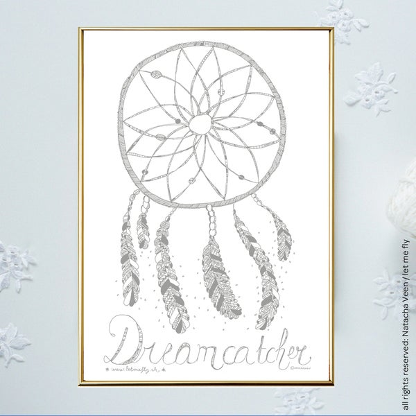 Image of Silver *Dreamcatcher*_A4