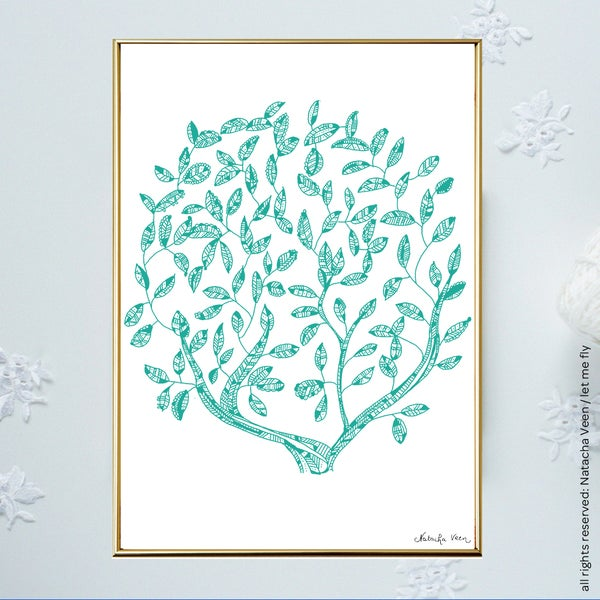 Image of Green *Tree of Life*_A4