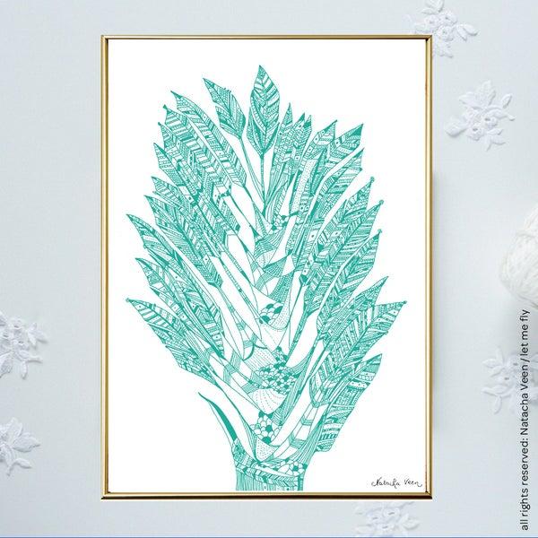 Image of Green *Arbre des Voyageurs*_A4