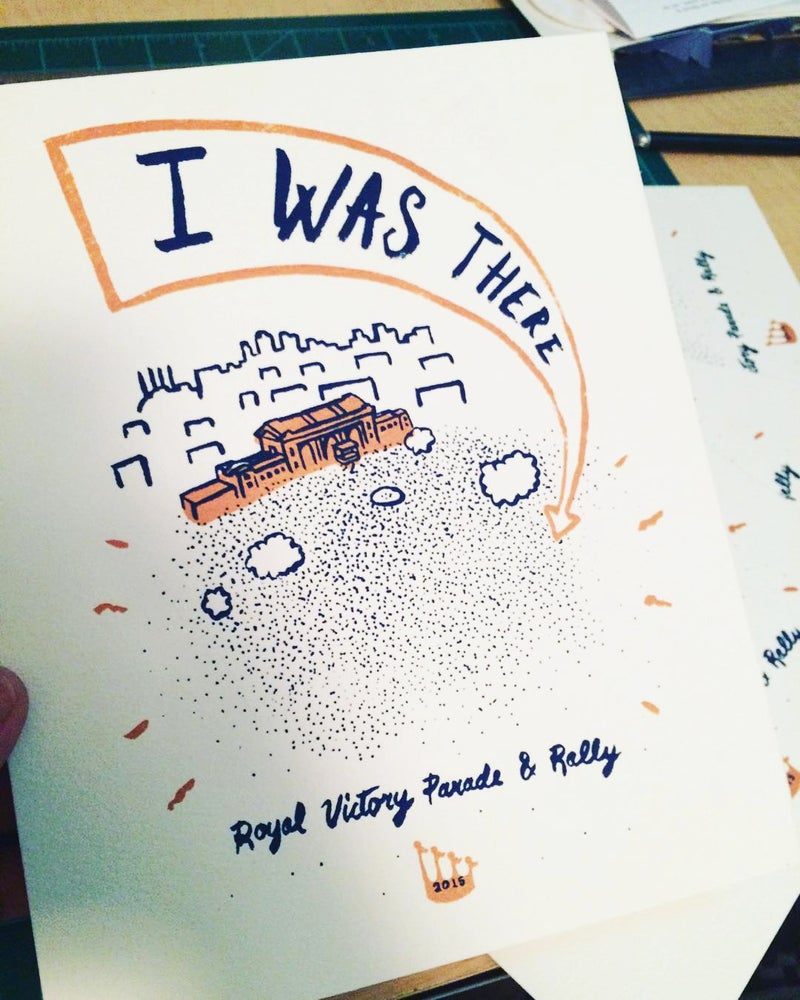 """Image of """"I Was There"""" print"""