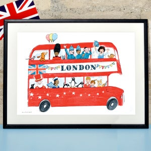 Alice Tait London Children's London Bus Print - Alice Tait Shop