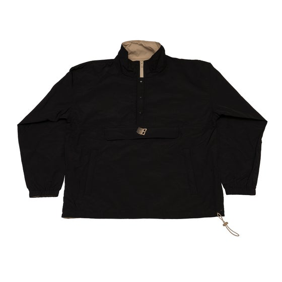 Image of Half Zip Pullover Jacket Black/Khaki