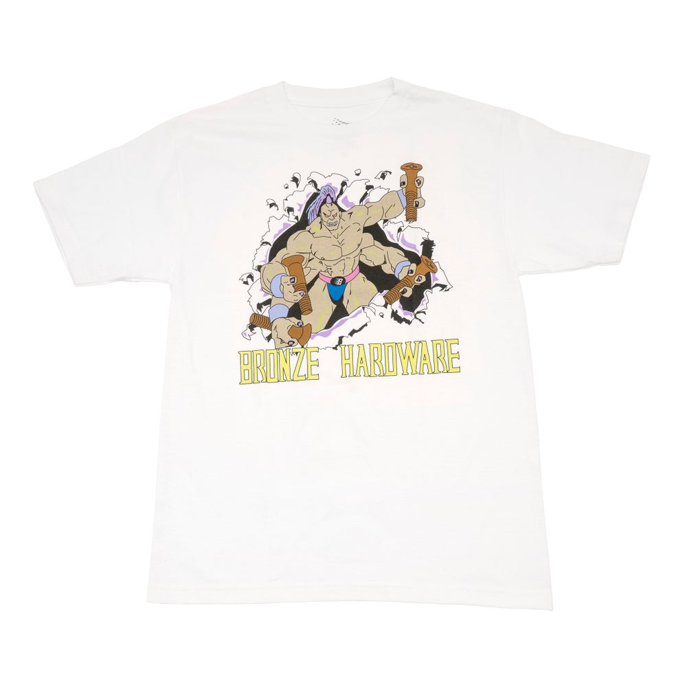 Image of Brolic Four Arm Tee White