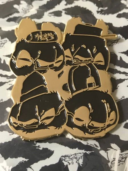 Image of Boom Bap Kids Enamel Pin by Woes