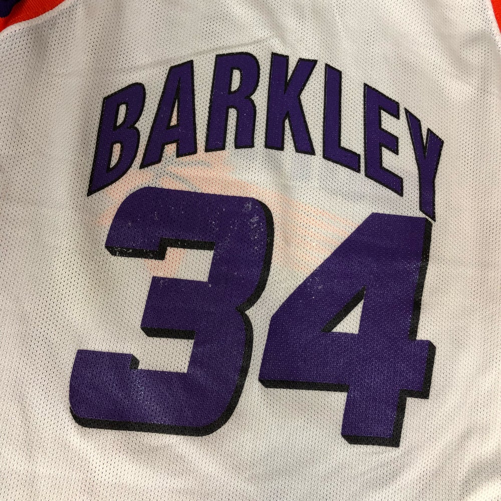 Image of Vintage Champion Phoenix Suns Charles Barkley Jersey Youth Size Large