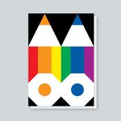 Image of Rainbow Pencils card