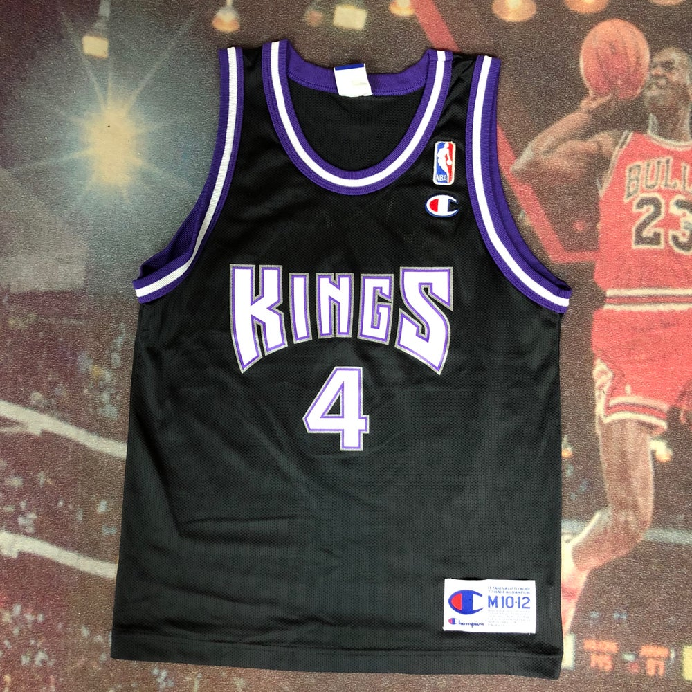 Image of Vintage Champion Sacramento Kings Chris Webber Jersey Youth Size Medium