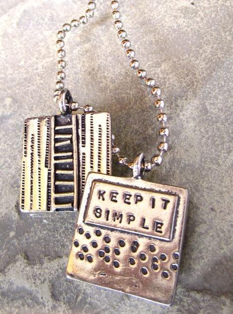 "Image of ""Keep it Simple"" Pewter Pendant"