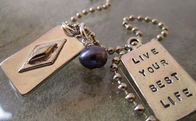 """Image of """"Live Your Best Life"""" Pewter Pendant"""