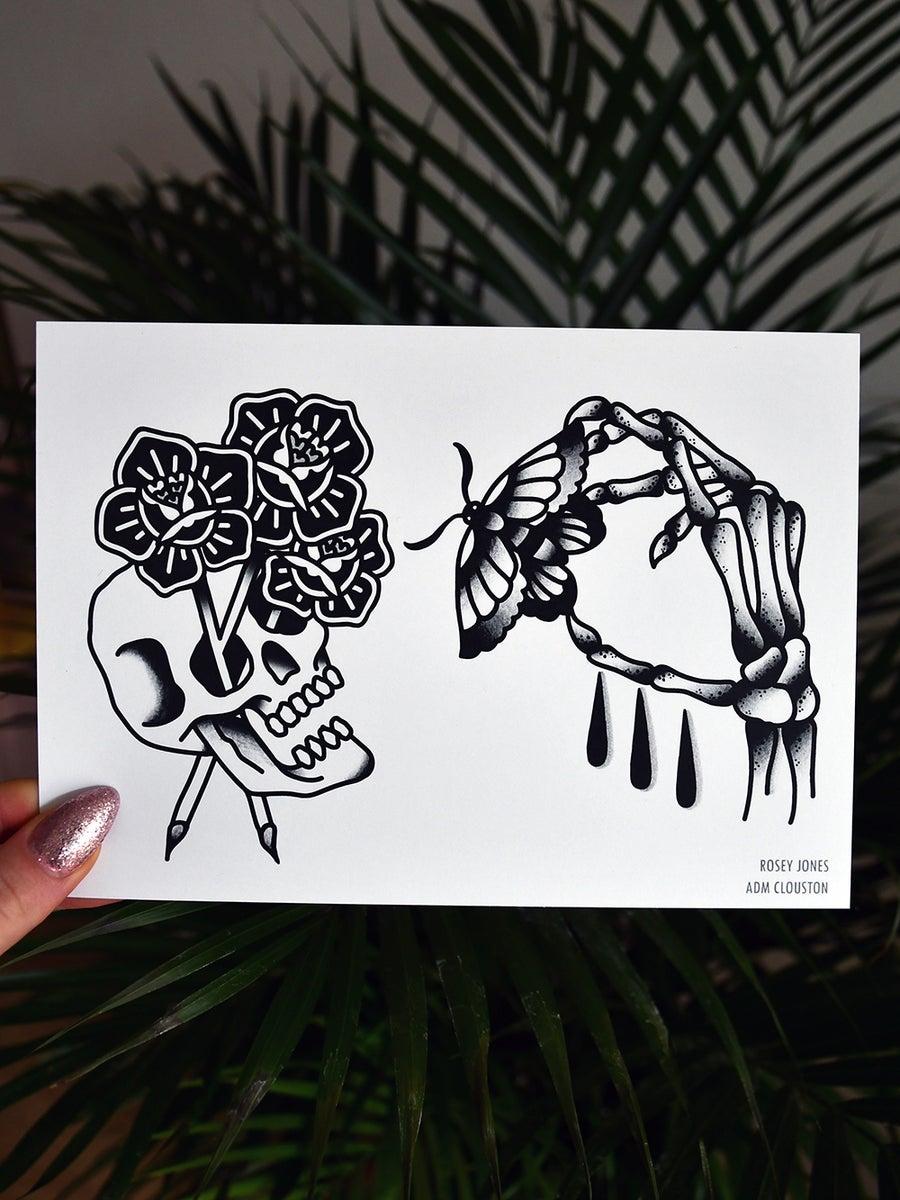 Image of Print Moth / Skull