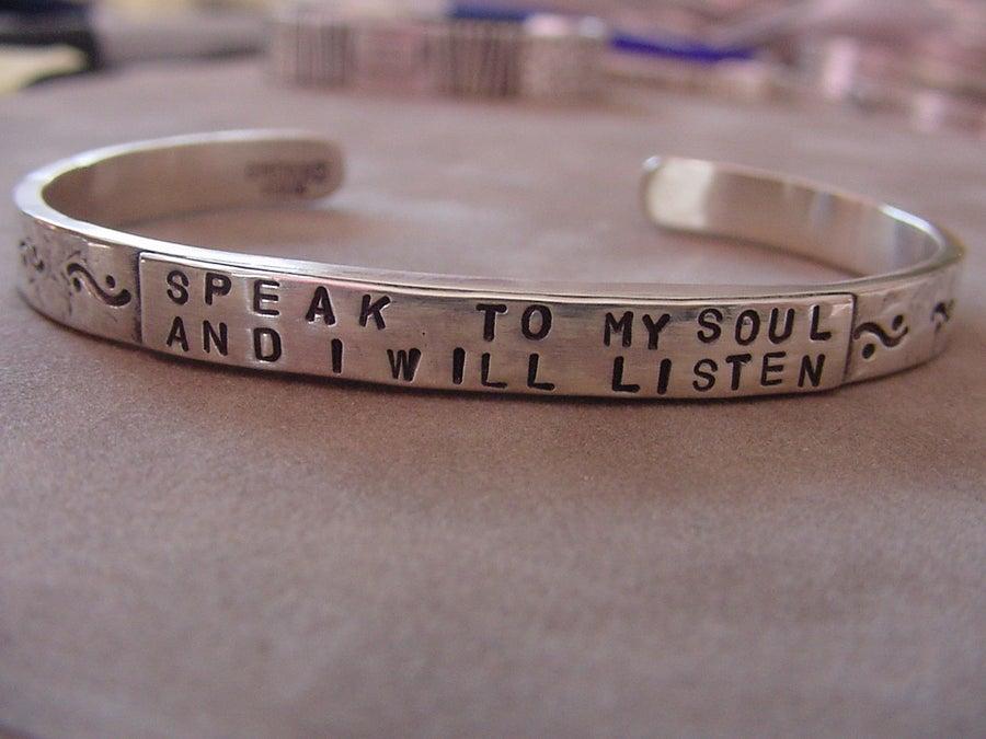 "Image of ""Speak to My Soul"" Sterling Bracelet"