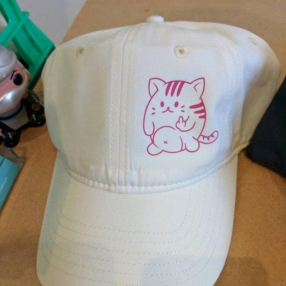"""Image of """"Kawaii Naughty Cat"""" Dad Cap"""