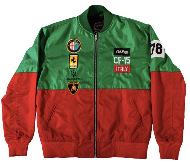 Image of CFG - Red & Green Windbreaker Jacket