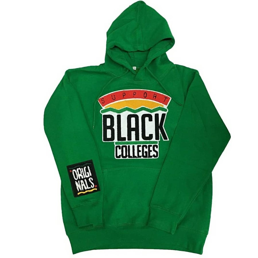 Image of BK - Originals - Green Support Black Colleges Hoodie
