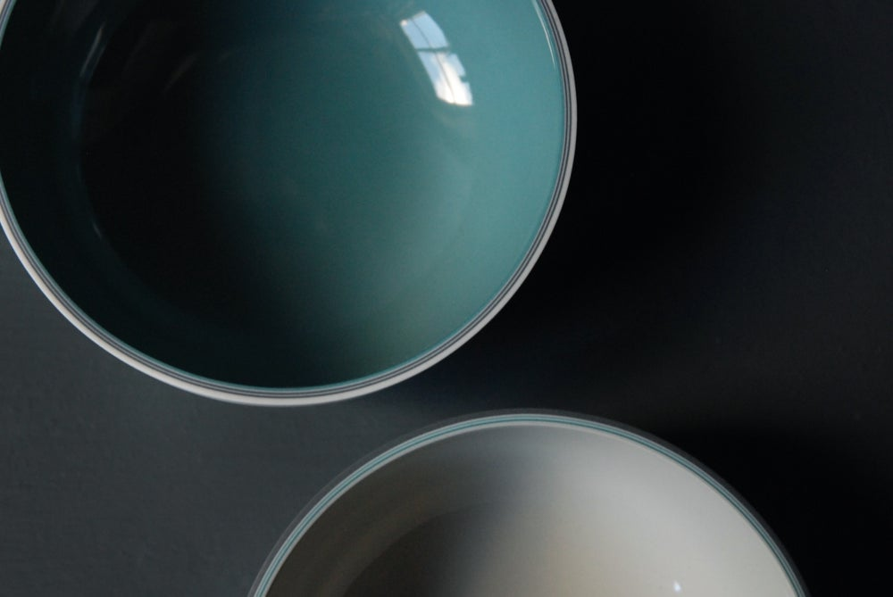 Image of Medium shallow glazed vessel