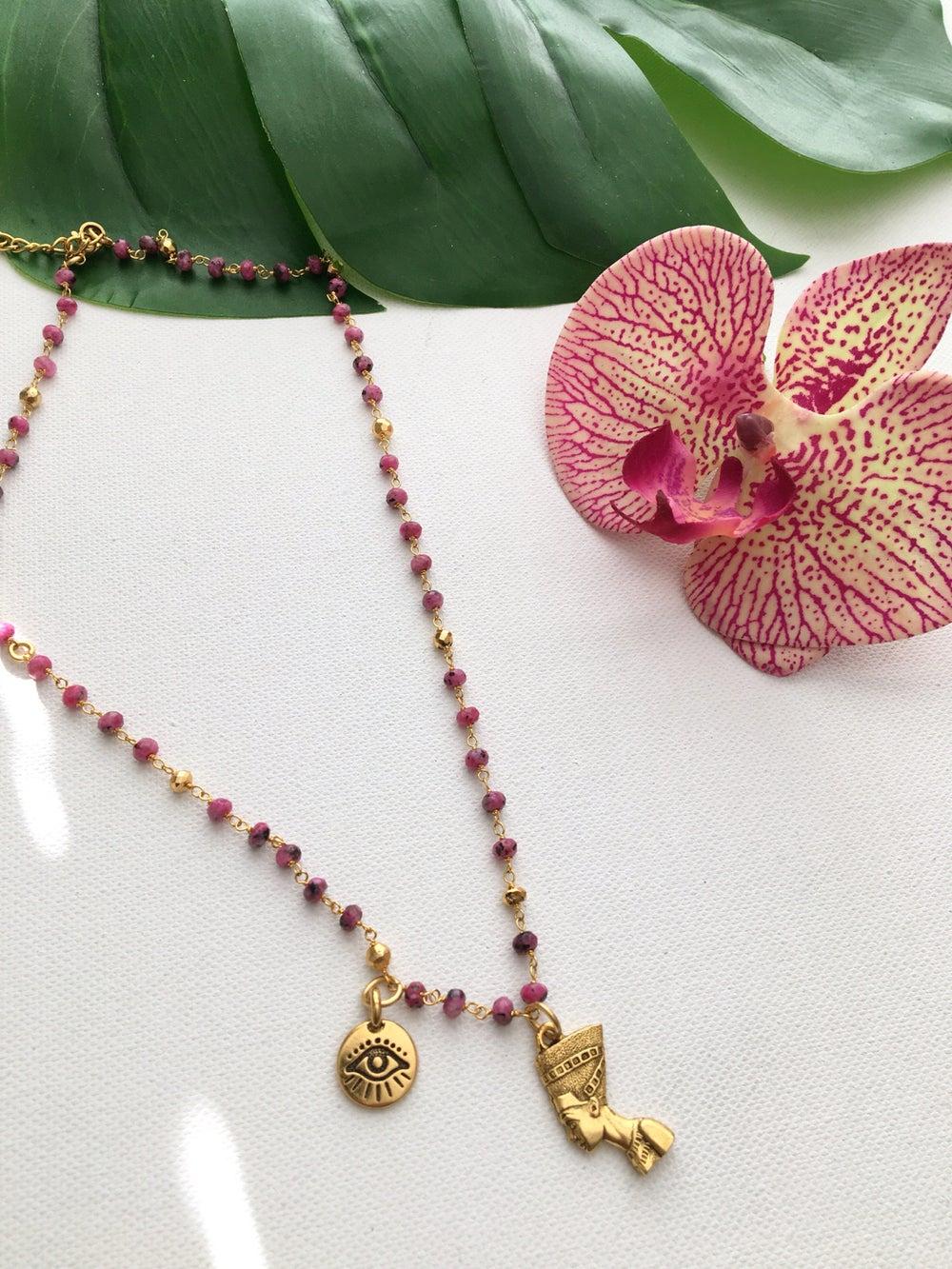 Image of H.E.R Nefertiti Necklace • Guava