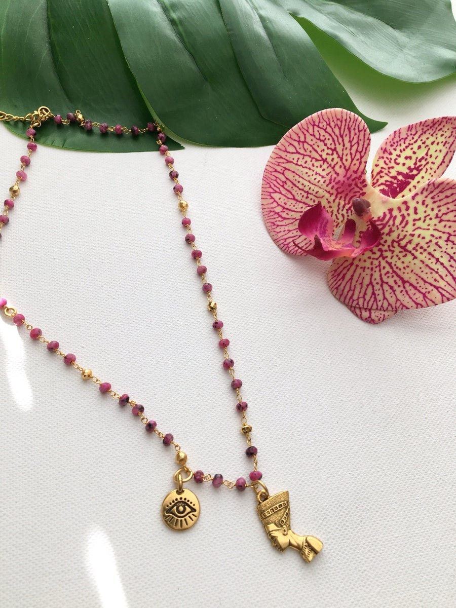 Image of H.E.R Nefertiti Necklace • Guava