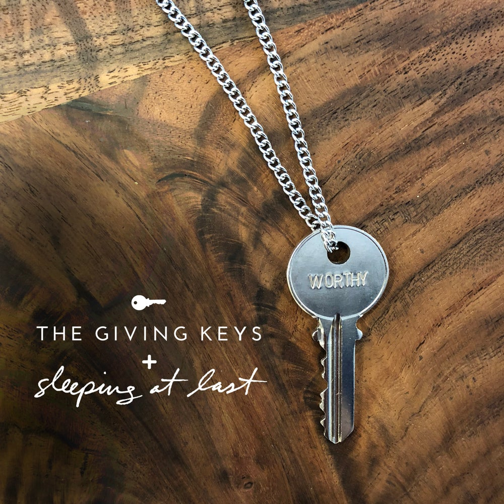 """Image of """"WORTHY"""" Key Necklace by The Giving Keys"""