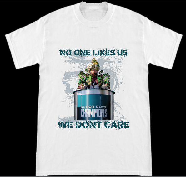Image of Philadelphia Eagles Super Bowl 52 Championship Parade Jason Kelce No One Likes Us T-Shirt