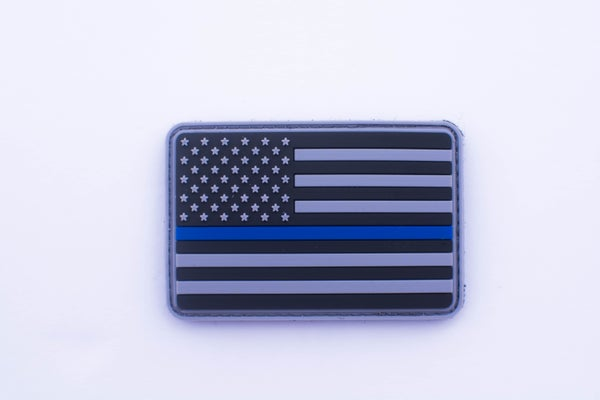Image of Blue Line Flag Velcro Patch