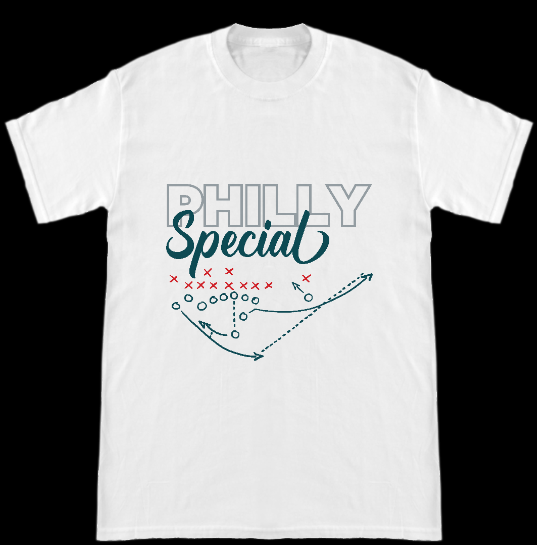 Image of Philadelphia Eagles Super Bowl 52 Nick Foles Philly Special Play T-Shirt