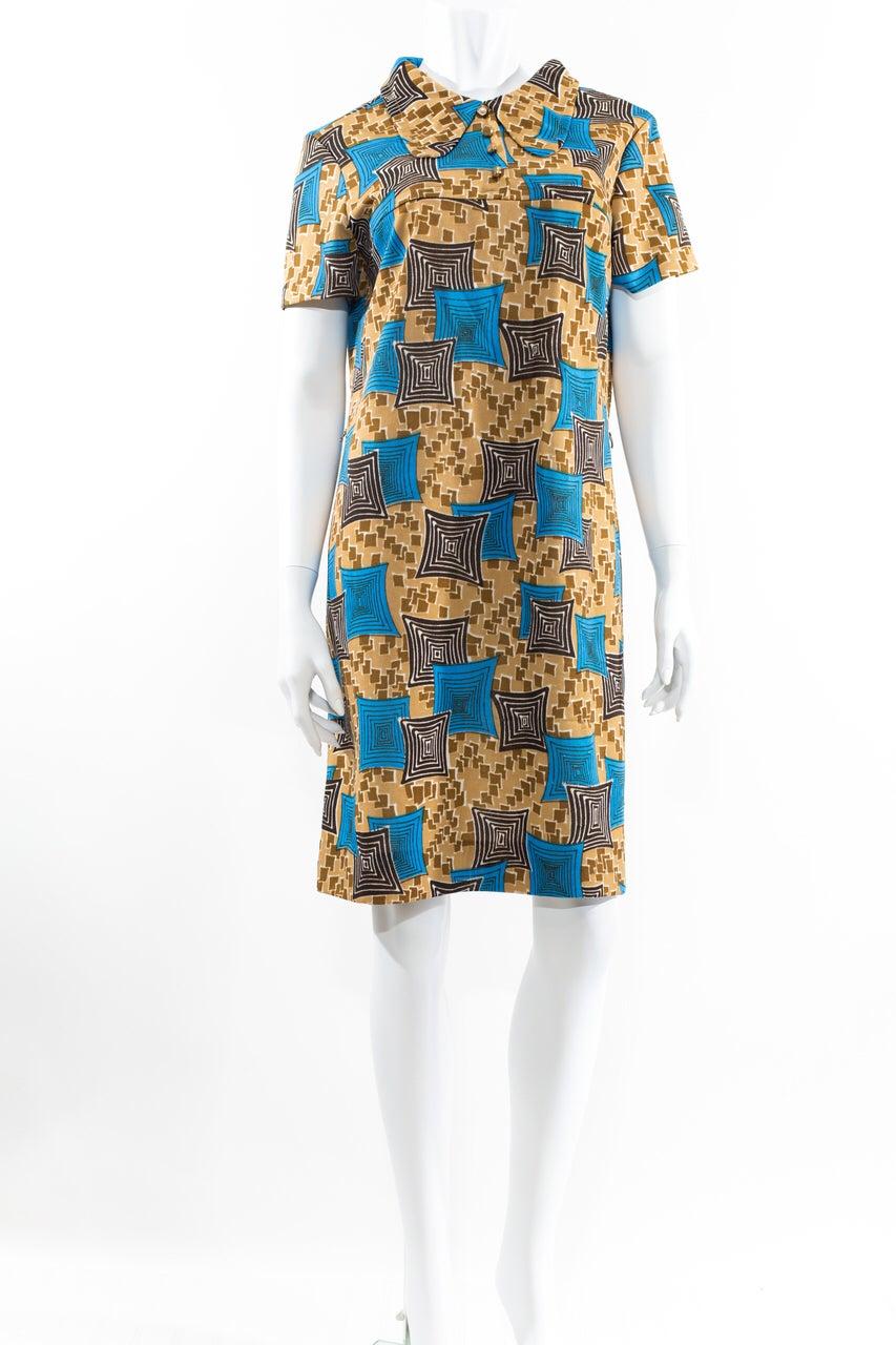 Image of Blue & Brown Mod Dres