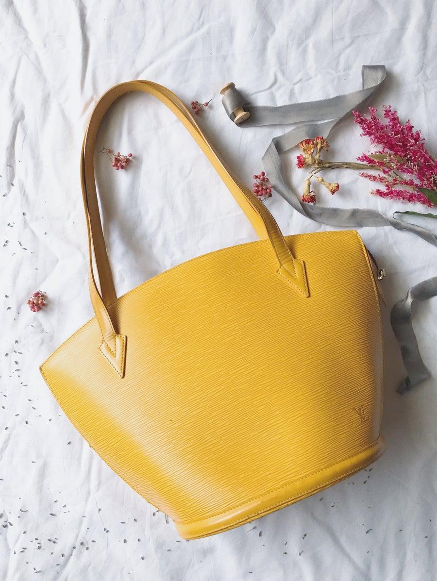 Image of 1995 LOUIS VUITTON Tassil Yellow Epi Saint Jacques GM Shoulder Bag