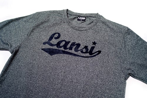 Image of LANSI Basic Tee (Dark Melange/Dark Navy)