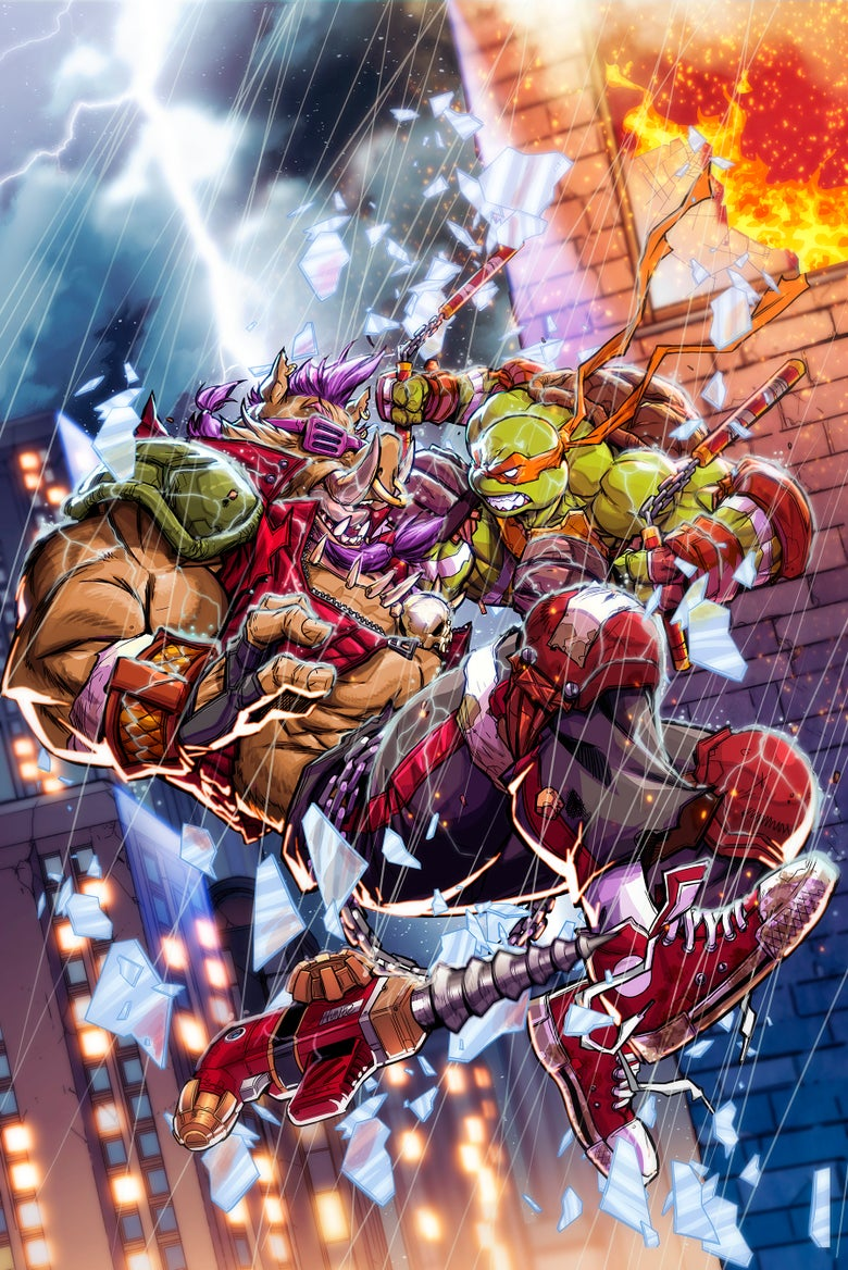 Image of Teenage Mutant Ninja Turtles #80 Eddie Nunez Exclusive Virgin Variant (Pre-Sale)