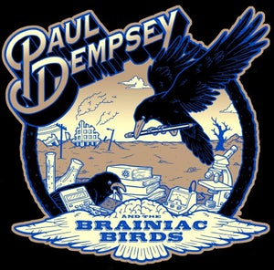 Image of Paul Dempsey Brainiac Birds t-shirt (black)