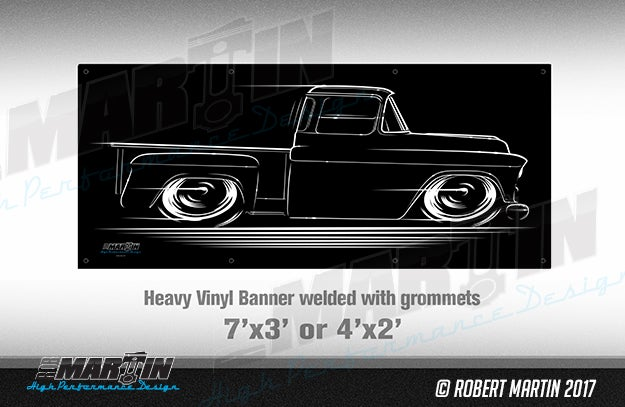 Image of 1955-1957 Chevy GMC Truck T-Shirts Hoodies Banners