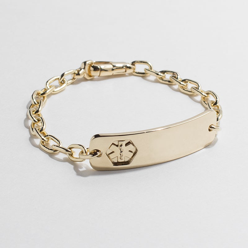 Image of WINNOW Custom Solid 14k Gold Medical ID Bracelet