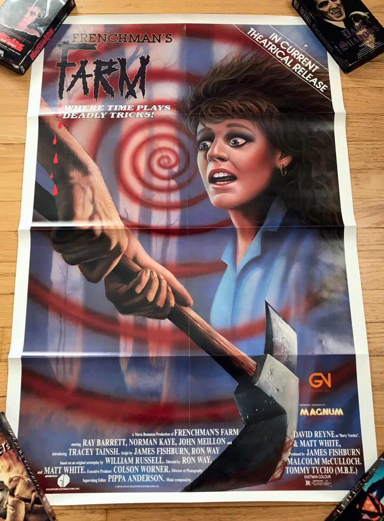 Image of 1987 FRENCHMAN'S FARM Original Magnum Entertainment Video Promotional Movie Poster