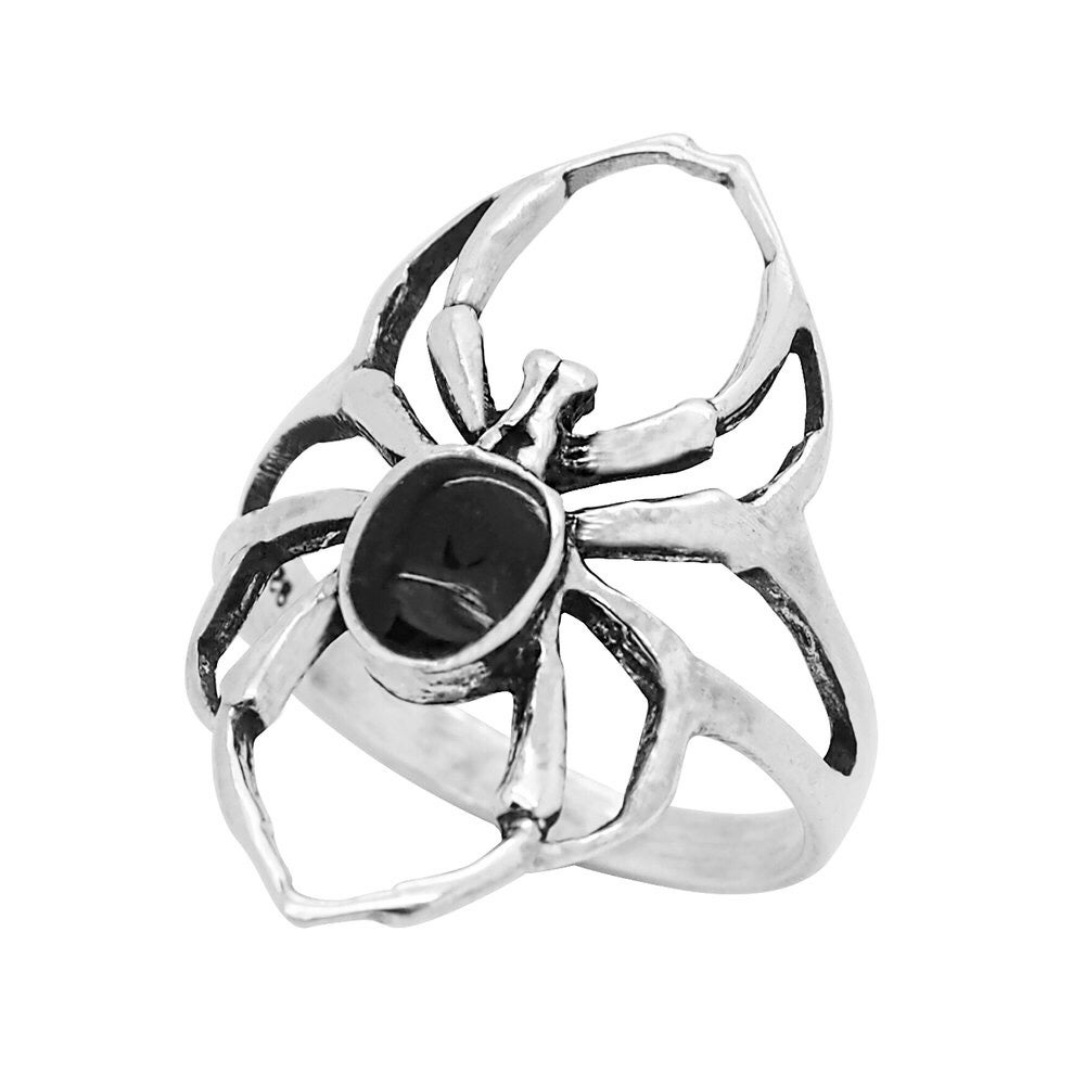 Image of Sterling Silver Black Widow Ring
