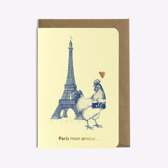 Image of CARTE PARIS MON AMOUR VANILLE