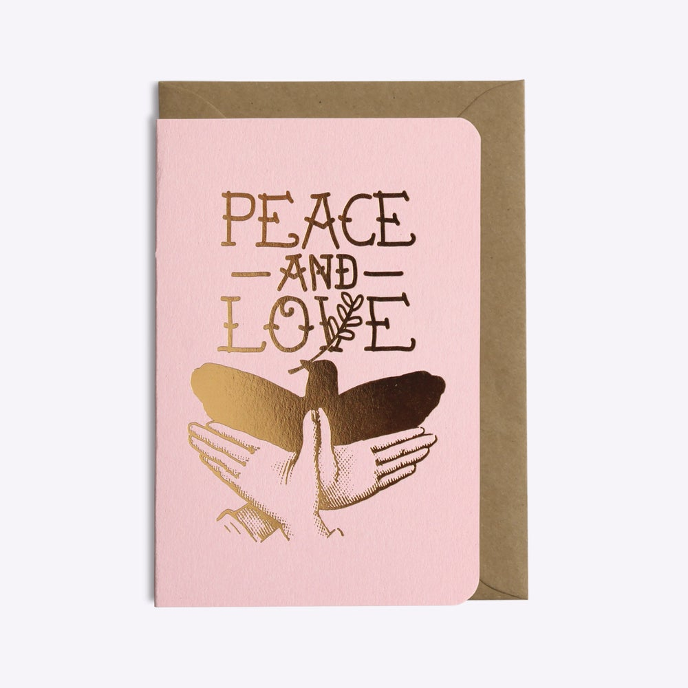 Image of CARTE PEACE AND LOVE ROSE