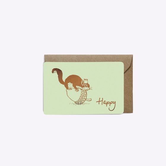 Image of MINI-CARTE HAPPY SQUIRREL PISTACHE