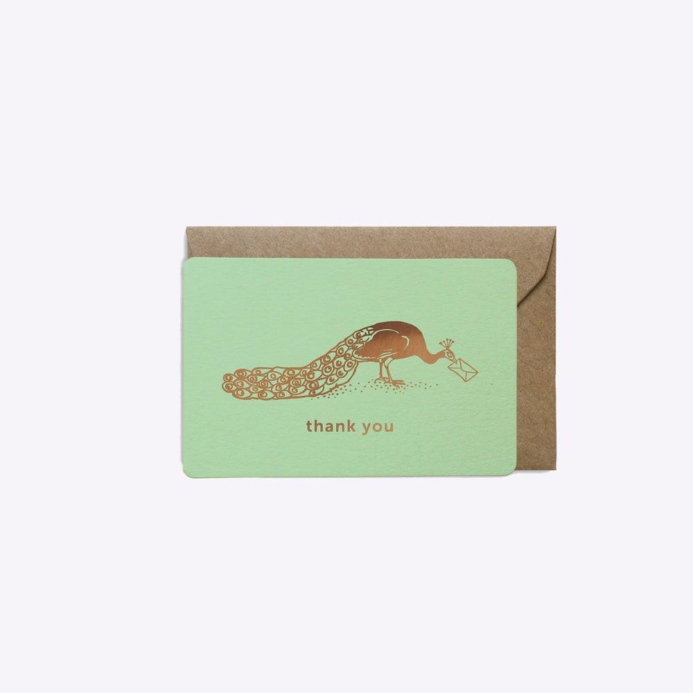 Image of MINI-CARTE THANK YOU VERT MENTHE