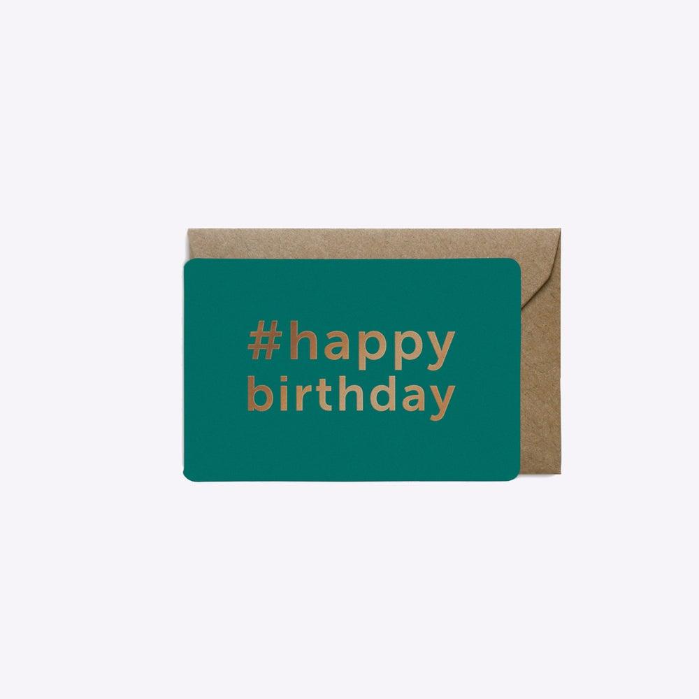 Image of MINI-CARTE #HAPPYBIRTHDAY EMERAUDE