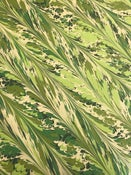Image of *NEW* 'Palm Leaf' combed Marbled paper