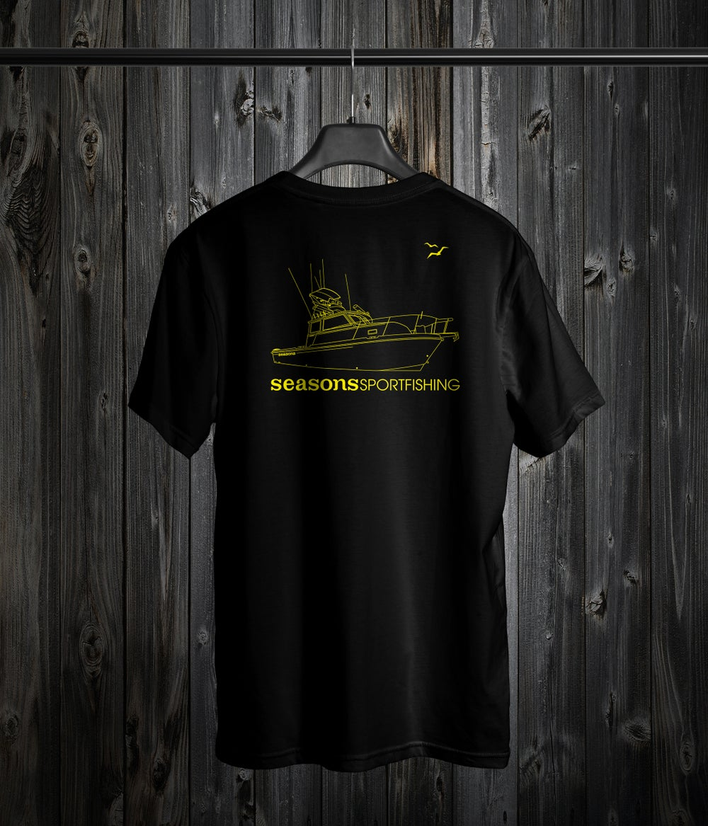 Image of SEASONS - BLACK / YELLOW - BOAT DESIGN