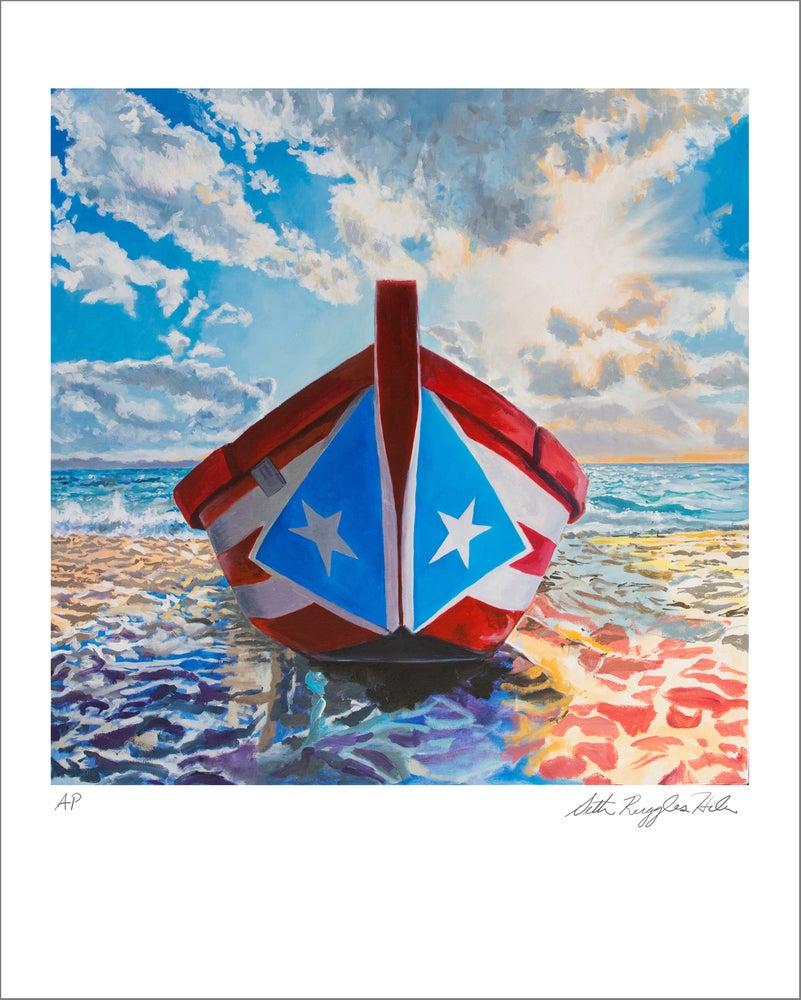 "Image of ""Boat Ashore"" print"