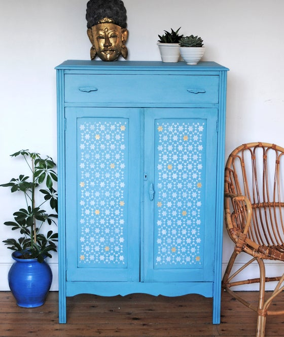 Image of Gloria Stencilled Cupboard