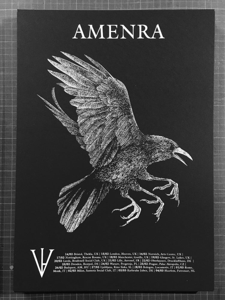 Image of AMENRA European Tour 2018 - Three Legged Crow Poster