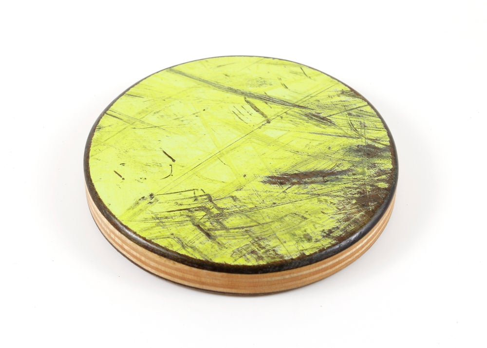 Image of Recycled Skateboard Round Drink Coasters