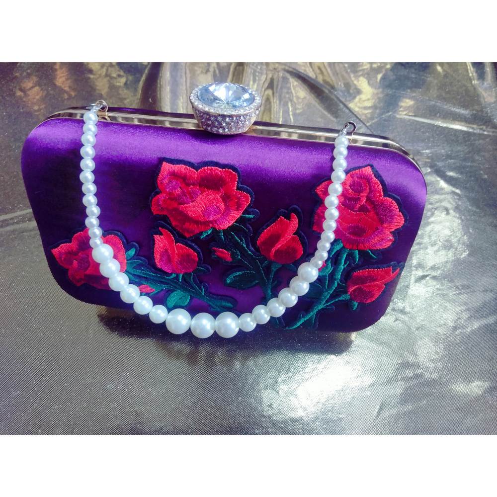 Image of Satin Rose clutch