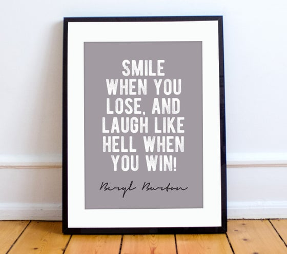 Image of Beryl Burton quote print - A4
