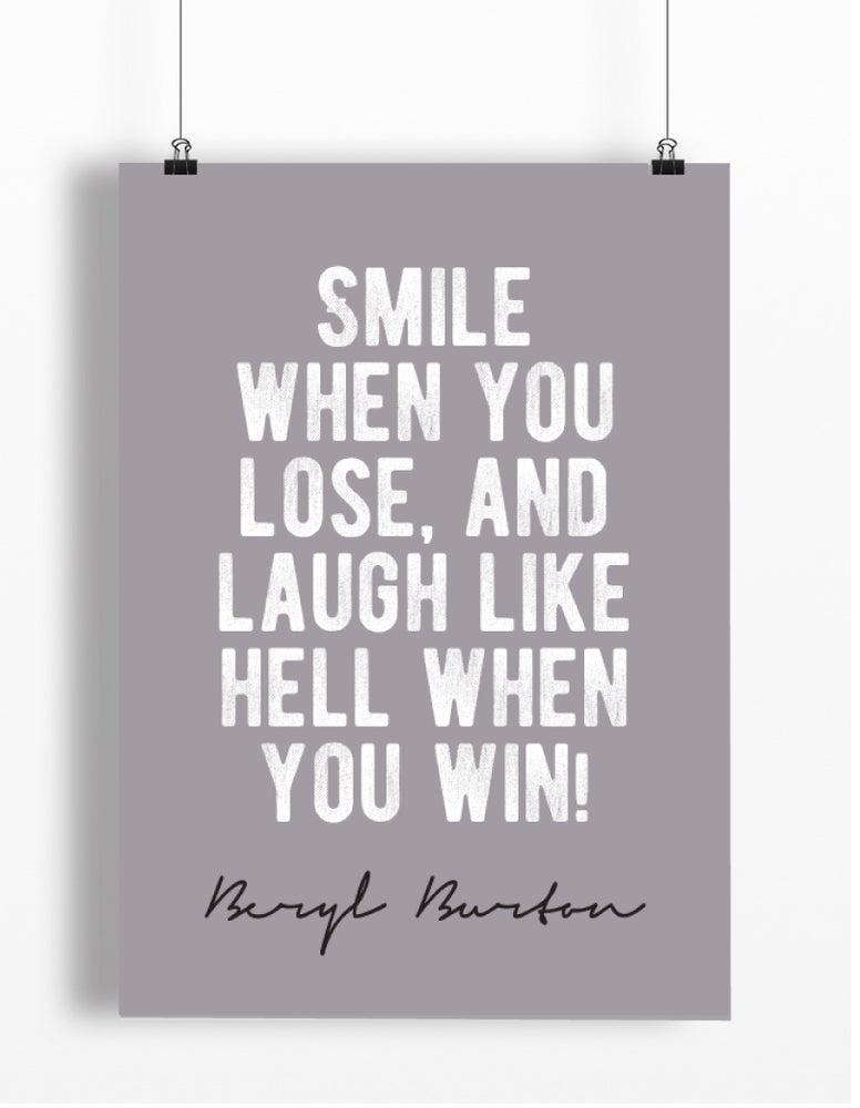 Image of Beryl Burton quote print - A4