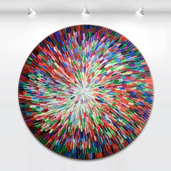 Image of Aes universum - 76x76cm